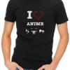 i love anime mens tshirt black