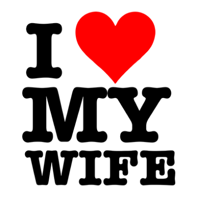 i love my wife white square