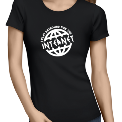 i play for the internet ladies tshirt black