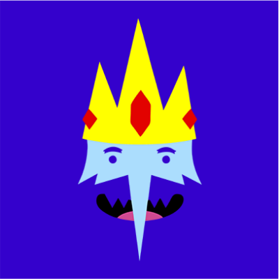ice king blue square