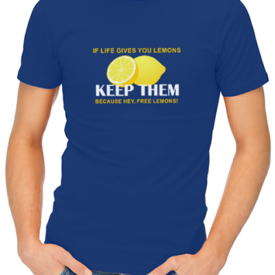 if life gives you lemons mens tshirt blue