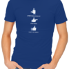 if you could mens tshirt blue