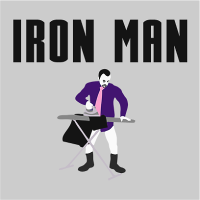 iron man grey square