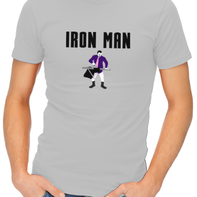 iron man mens tshirt grey
