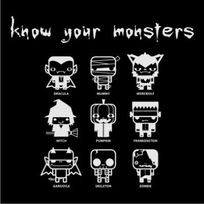 know-your-monsters-halloween-t-shirt-black