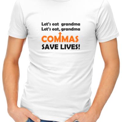 lets eat grandma mens tshirt white