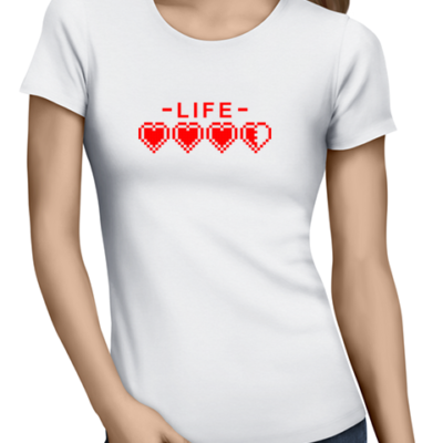life ladies tshirt white
