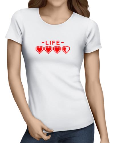 life ladies tshirt white