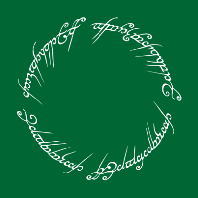 lord-of-the-rings-script-bottle-green