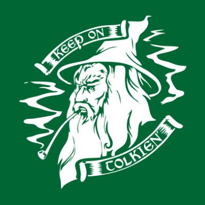 lotr-keep-on-tolken-bottle-green