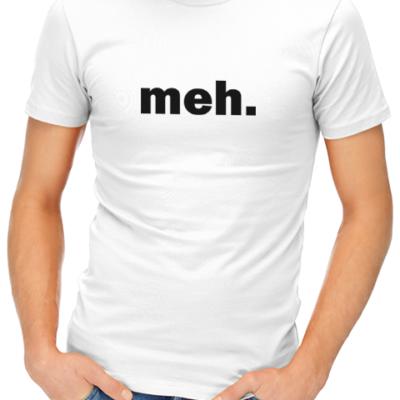meh mens tshirt white