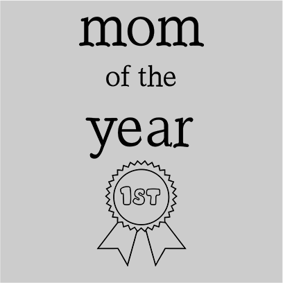 mom of the year grey square
