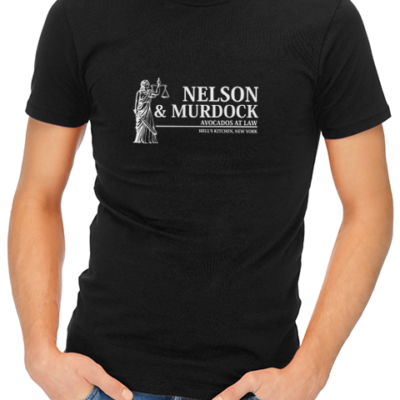 nelson and murdock mens tshirt black