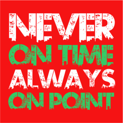 never on time red square