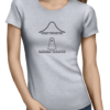 normal paranormal ladies tshirt grey