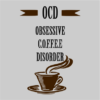 obsessive coffee disorder grey square