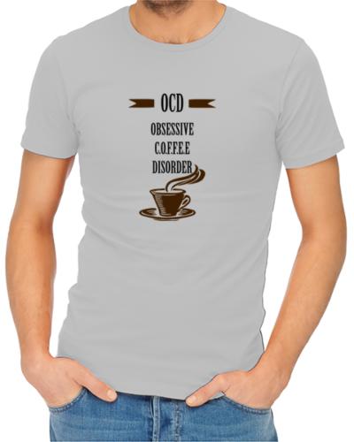 obsessive coffee disorder mens tshirt grey