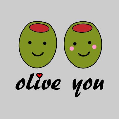 olive-you-grey-tshirt