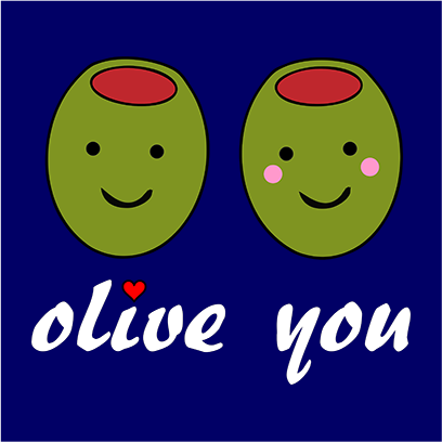 olive you navy square