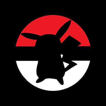 pikachu ball black square