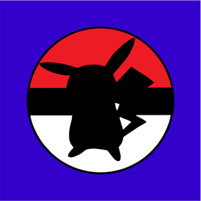 pikachu ball blue square