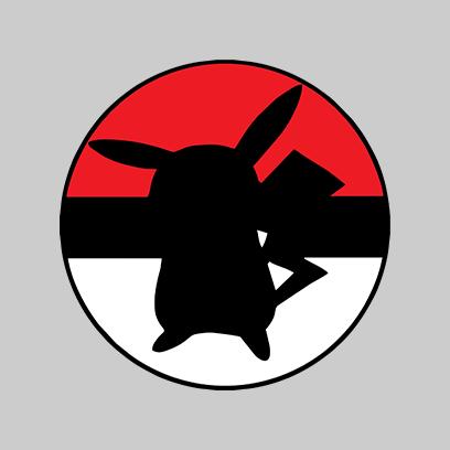 pikachu ball grey square