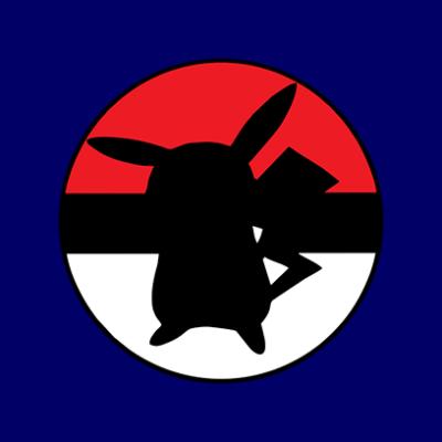 pikachu ball navy square