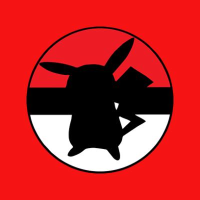 pikachu ball red square