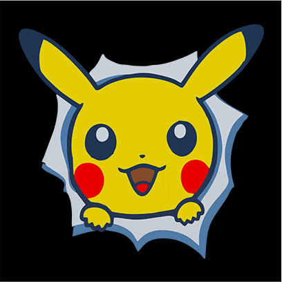 pikachu black square