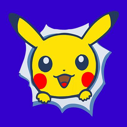 pikachu blue square