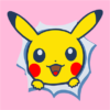 pikachu pink square