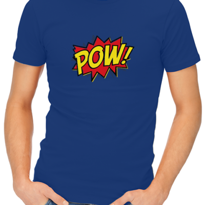 pow mens tshirt blue