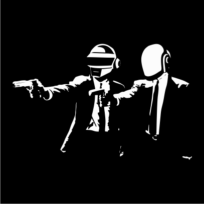 pulp-fiction-daft-punk-black