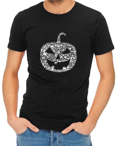 pumpkin face mens tshirt black