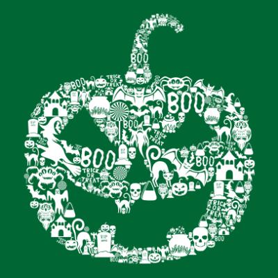 pumpkin-halloween-t-shirt-bottle-green