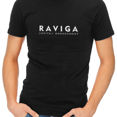 raviga mens tshirt black