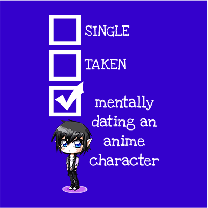 relationship status anime blue square