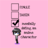 relationship status anime pink square