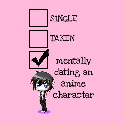 relationship status anime pink square