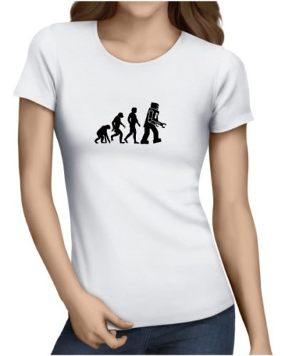 robot-evolution-on-ladies-white-shirt