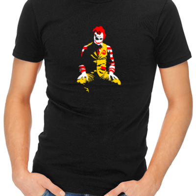 ronald mcdonald joker mens tshirt black
