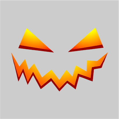 scary smile grey square