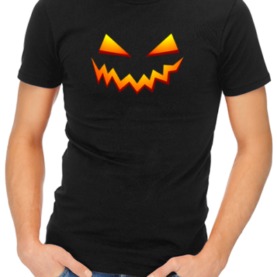scary smile mens tshirt black