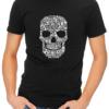 skull collage mens tshirt black