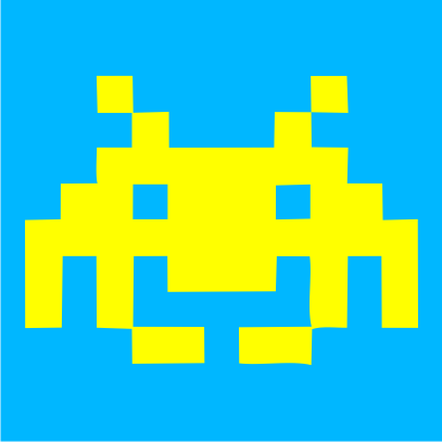 space-invaders-azure-blue