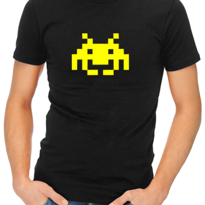space invaders mens tshirt black
