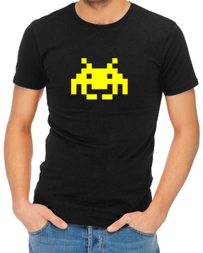 space invaders mens tshirt black