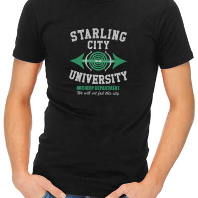 starling city university mens tshirt black