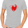 superman silhouette mens tshirt grey
