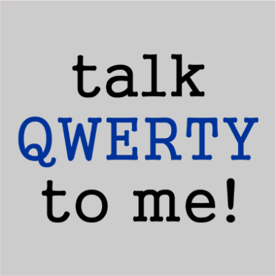 talk qwerty to me grey square